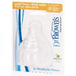 Соска для бутылочки  с широким горлышком Уровень 3.