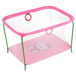 Манеж Qvatro  мелкая сетка розовый (hello kitty)