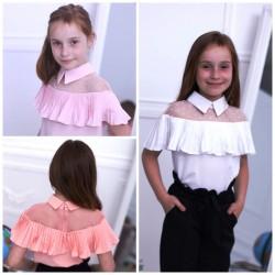 Блуза короткий рукав шифон