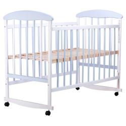Кровать Наталка  ольха бело-голубая