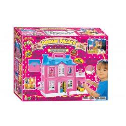 Домик 886 с куклами и гаражом в коробке
